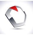 Abstract 3d diamond icon vector image vector image