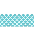 Abstract blue fishscale horizontal seamless vector image