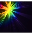 Abstract flash star light Colorful exploding vector image vector image