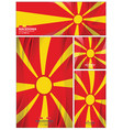 abstract macedonia flag background vector image vector image