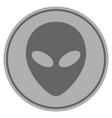 alien head silver coin