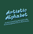 artistic isolated english alphabet volumetric vector image