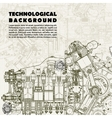 Background drawing engine vector image vector image