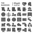 banking glyph icon set finance symbols collection vector image