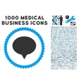 Banner Icon with 1000 Medical Business Pictograms vector image vector image