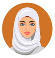 beautiful muslim woman in white hijab vector image vector image