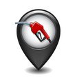 black glossy style map pointer with fuel handle vector image