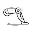 Bot legs line icon concept sign outline
