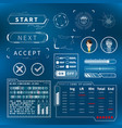 bright white futuristic user interface elements on vector image vector image