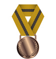 Bronze Medal Isolated on White Background vector image vector image
