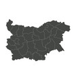 bulgarian map with regions vector image vector image