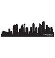 Calgary Canada skyline Detailed silhouette vector image vector image