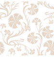 carnations seamless pattern vector image