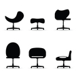 chair set black vector image vector image