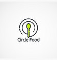 circle food logo designs concept with simple vector image vector image