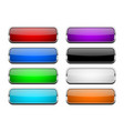 colored glass button shiny rectangle 3d web icons vector image vector image