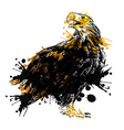 colored hand drawing an eagle vector image vector image