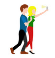 couple taking a selfie valentine day vector image