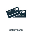 credit card icon mobile app printing web site vector image