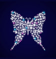 decoration in the form of a butterfly vector image