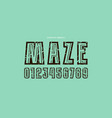 decorative numerals with a maze inside vector image