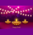 diwali concept background realistic style vector image vector image