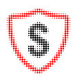dollar protection halftone dotted icon vector image vector image