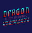 dragon letters with numbers dollar and euro vector image vector image