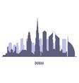dubai skyline silhouette - landmarks cityscape vector image