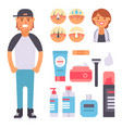 facial care skin problems clean vector image vector image