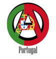 flag of portugal of the world in the form of a vector image vector image