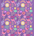 flamingo seamless pattern vector image vector image