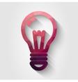 Flat polygonal bulb icon vector image