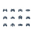 gamepads icon set vector image vector image