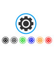 gear rounded icon vector image vector image