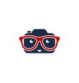 geek camera logo icon design vector image