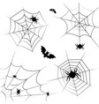 halloween cobweb frame border and dividers vector image