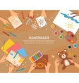 Handmade Concept In Flat Style vector image