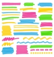 Highlighter Color Stripes Strokes and Marking vector image vector image