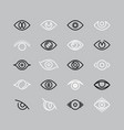 human eye line icons eyesight outline vector image