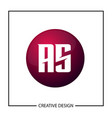 initial letter as logo template design vector image