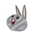 kawaii funny rabbit animal cartoon image vector image vector image