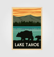 lake tahoe national park vintage poster outdoor vector image vector image