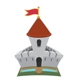 Medieval castle fortress cartoon icon vector image