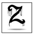 Melted grunge font vector image vector image