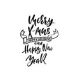 merry x-mas and happy new year holiday modern dry vector image vector image