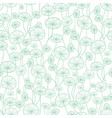 mint green and white underwater seaweed vector image vector image