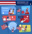mix race people celebrate united states vector image vector image