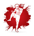 muay thai thai boxing action vector image