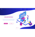online shopping - modern colorful isometric vector image vector image